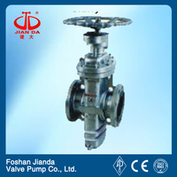 double discs flat gate valve with bank guiding hole