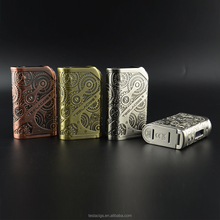 Newest hi-watts box mod antique brass/antique copper/ss/black nano 120W from authentic teslacigs manufacturer