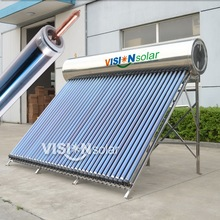 High pressurized heat pipe solar water heating system for home