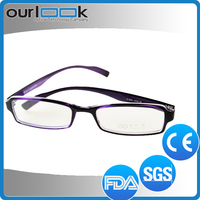 Wholesale Purple Color Rectangular Frame Anti Blue Ray Company Eyewear Promotion