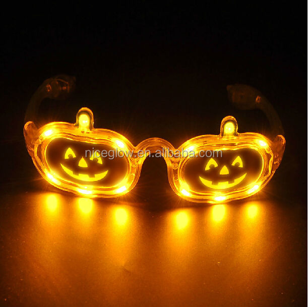 led sunglasses with pumpkin for part/halloween show