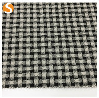 Cotton Polyester Spandex Jacquard Knit Checkered Fabric