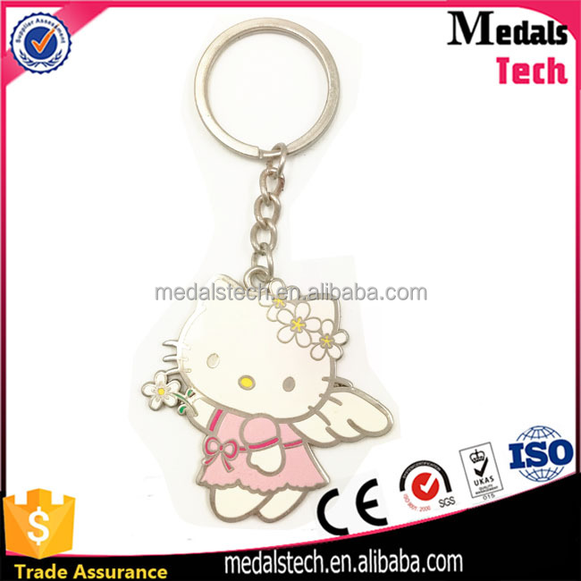 Keychain manufacturer custom cute animal metal key chain for girls