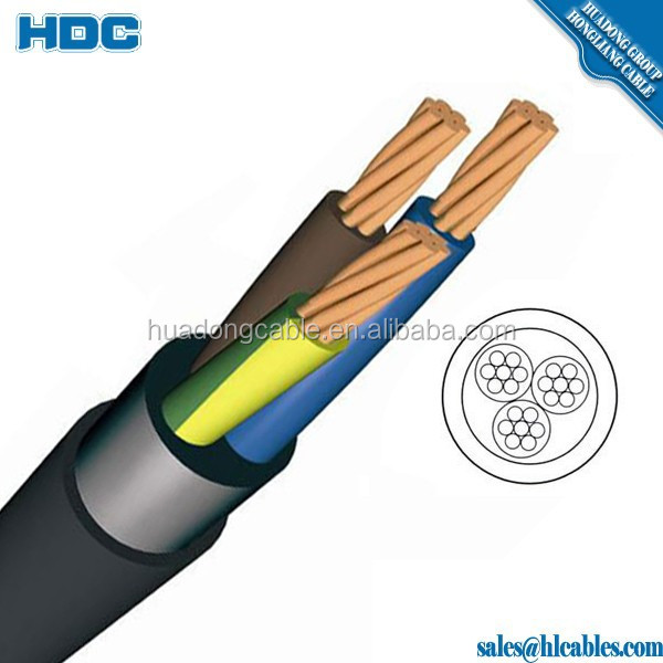 IEC60502/IEC60227 Flexible Power Cable 300 500V Copper Core PVC Insulated PVC Sheath 25mm Copper Wire