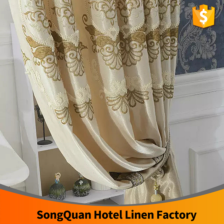 Home decor simple design joint embroidery window curtain