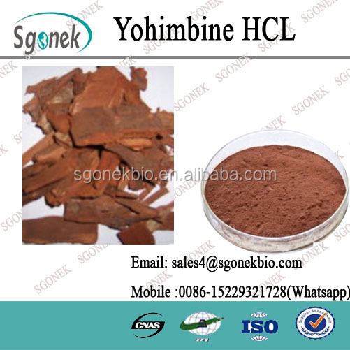 Sex Product for Men Yohimbe Bark Extract 98% Yohimbine HCL