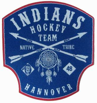 INDIANS HOCKEY TEAM PATCH WOWEM LABEL
