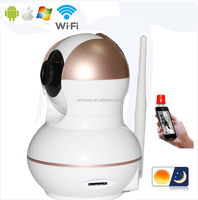 Mini Dome App Remote Control Two-way Voice P2P HD Wifi Surveillance Camera Babies Monitor