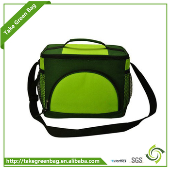 Custom handled with zipper food delivery cooler bag promotional