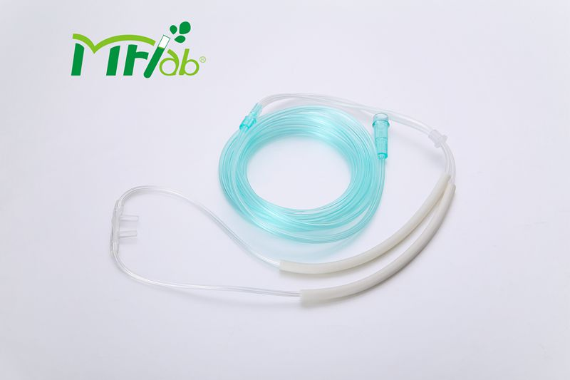 Disposable Nasal Oxygen Cannula with Silicone Rubber Earloop