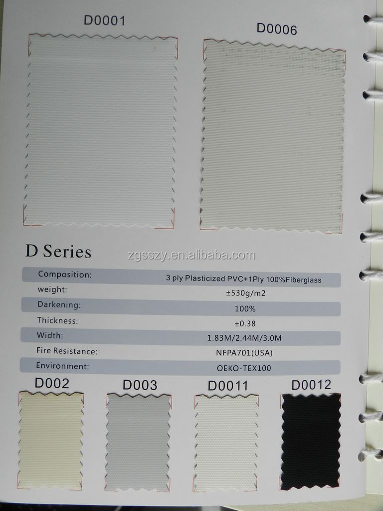 Wireless Control Blackout Fabric for Roller Blinds/Blackout Fabric roller blinds