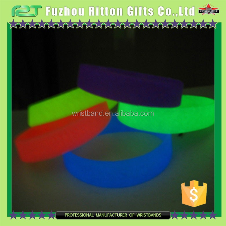 silicon wristband glow in the dark