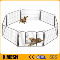 High Quality 8 Panels 80*80cm Exercise Fence Pet Dog Pup Enclosure Playpen Cage Kennel Crate