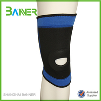 Elastic stretch compression sleeve knee support protector