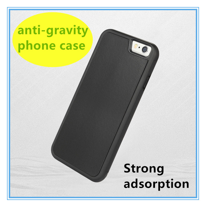 2016 Nanomaterials Unverisal Slim Anti-gravity Case with Strong adsorption Gravity Cell Phone Case for iphone5S 6s plus