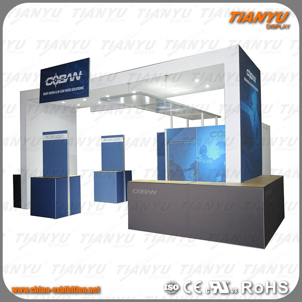 Aluminium Exhibition Stand Illuminated Display Rack Design Outdoor Exhibition Booth For Exhibition Show