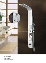 Wall mounted massage outdoor shower stainless steel shower panel