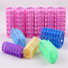 Newest Colorful Disposable Plastic Magnetic Hair Rollers With Tooth Hair Tools
