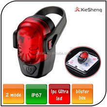 Super Bright warning light 2 mode IP67 rear bike light led bicycle tail light with waterproof silicone cover