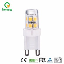 CE approval products warm white rgb dimmable g9 led bulb