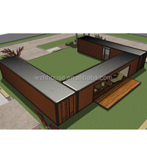 3 Unites 40FT Prefabricated and Mobile Shipping Container House Near The Beach
