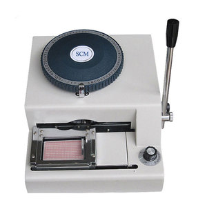 SC-5000 Manual Metal Dog Tag Embossing Machine PVC / ID Card Embosser
