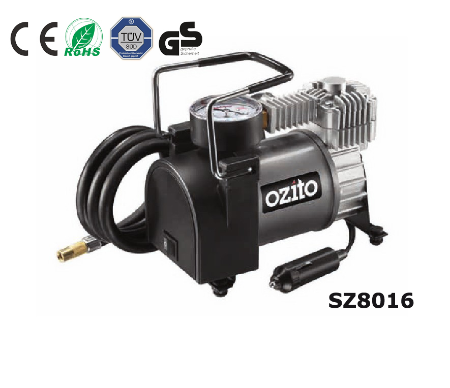 Metal car air compressor/air pump/tire inflator