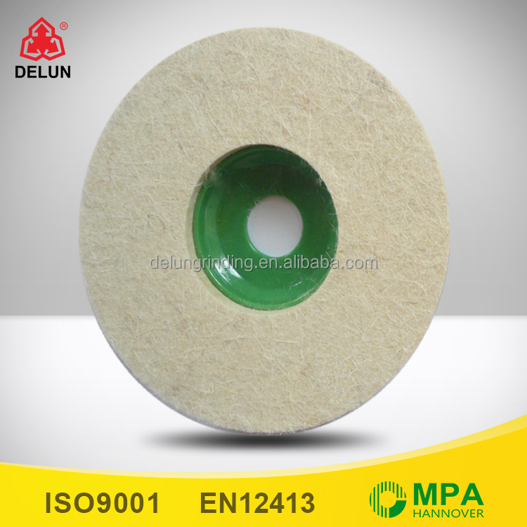 4 inch Wool Felt Surface Conditioning Wheel 13mm Thick for Polishing