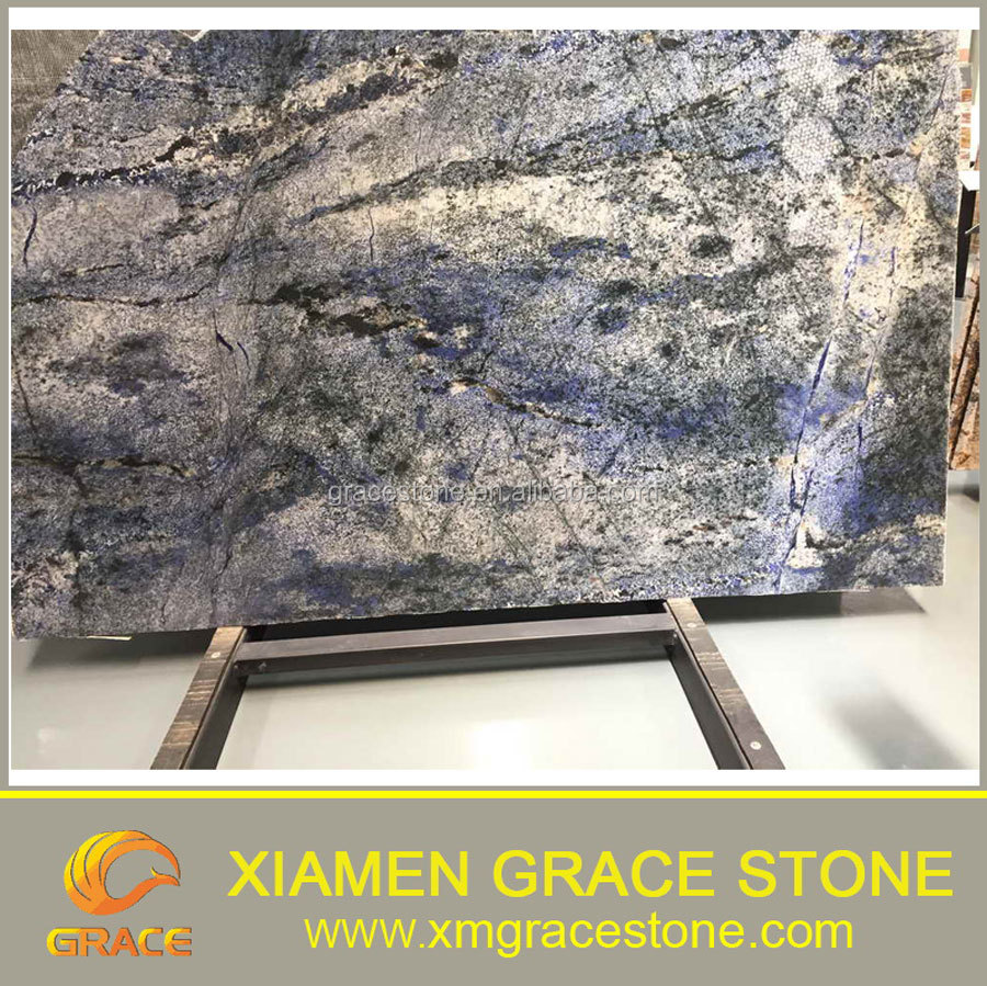 Granite Natural Product : Natural stone polished azul bahia blue granite slab price