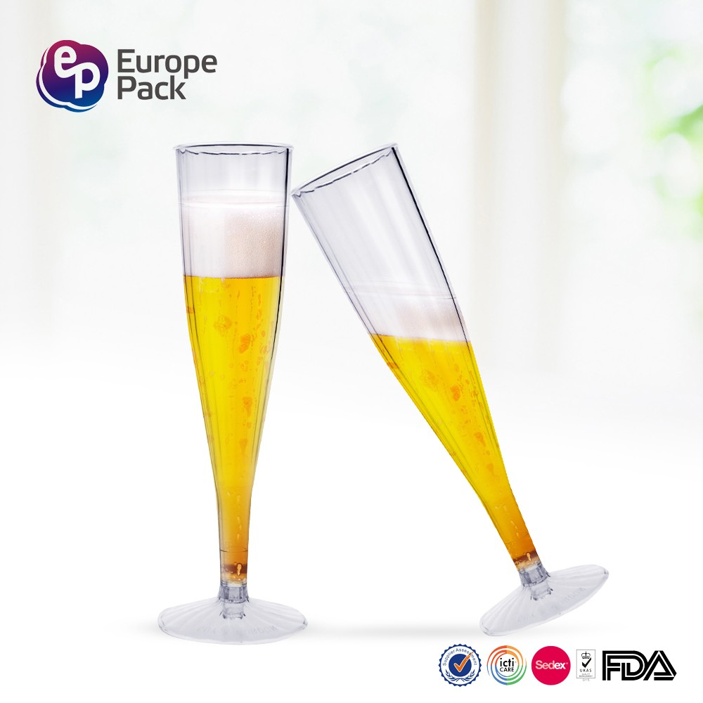 Food grade eco-friendly 160ml ps material champagne glass for weeding