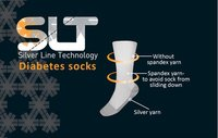 Silver diabetic socks