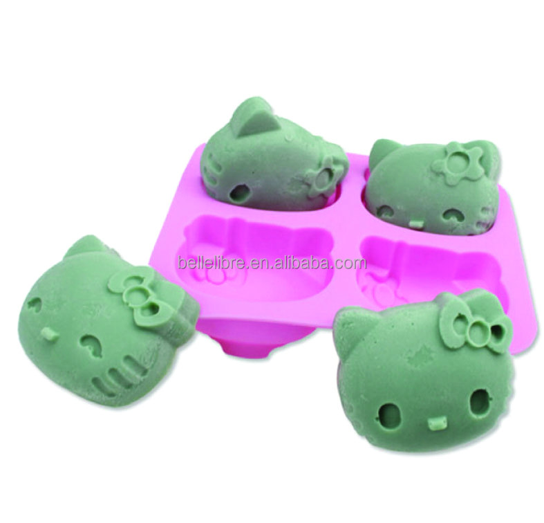 Wholesale new design 4 cavity kit silicone cake mold and food grade silicone chocolate mold