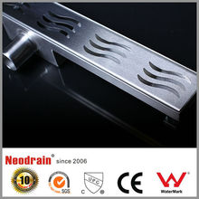 Bathroom accessory stainless steel linear shower drain