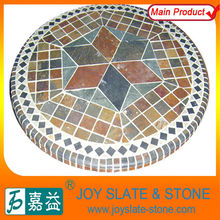 CHARMING STONE TILE MOSAIC TABLE TOP
