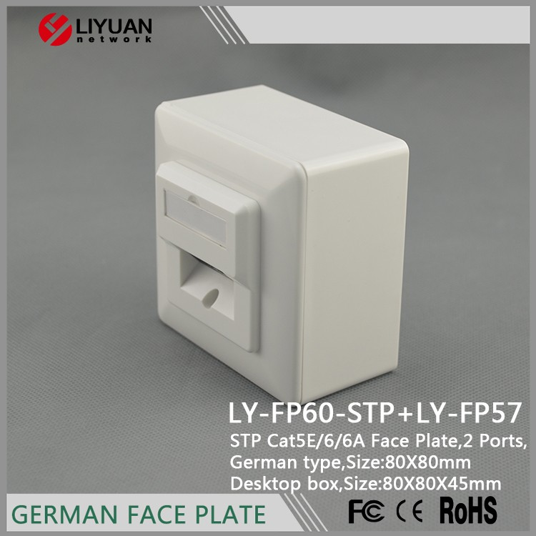 LY-FP60-STP Germany Type Socket RJ45 Wall Face Plate/Faceplate Network