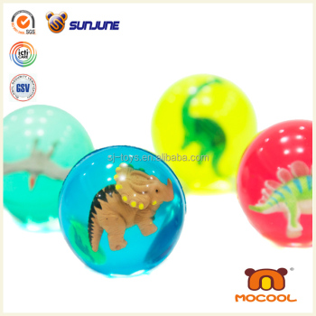 Solid bounce ball with creative figure high bounce ball Rubber