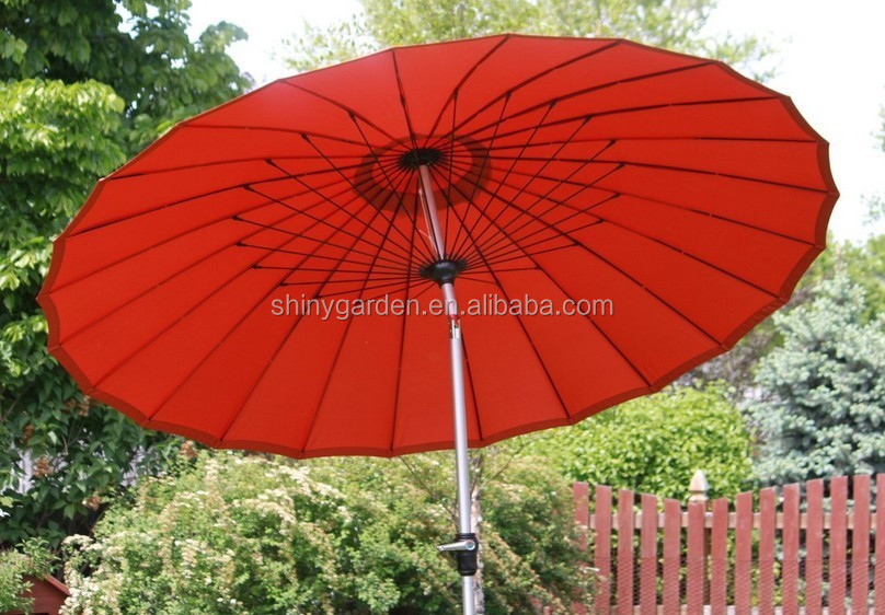 Fancy 2.7M Fiber Glass Outdoor Furniture Umbrella Restaurant Umbrella
