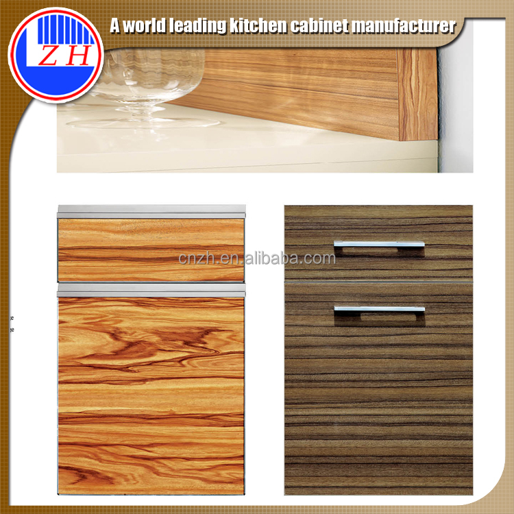 customized laminate kitchen cabinet wood doors with edge banding