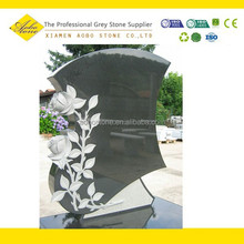 Headstone with rose design,headstone decorations