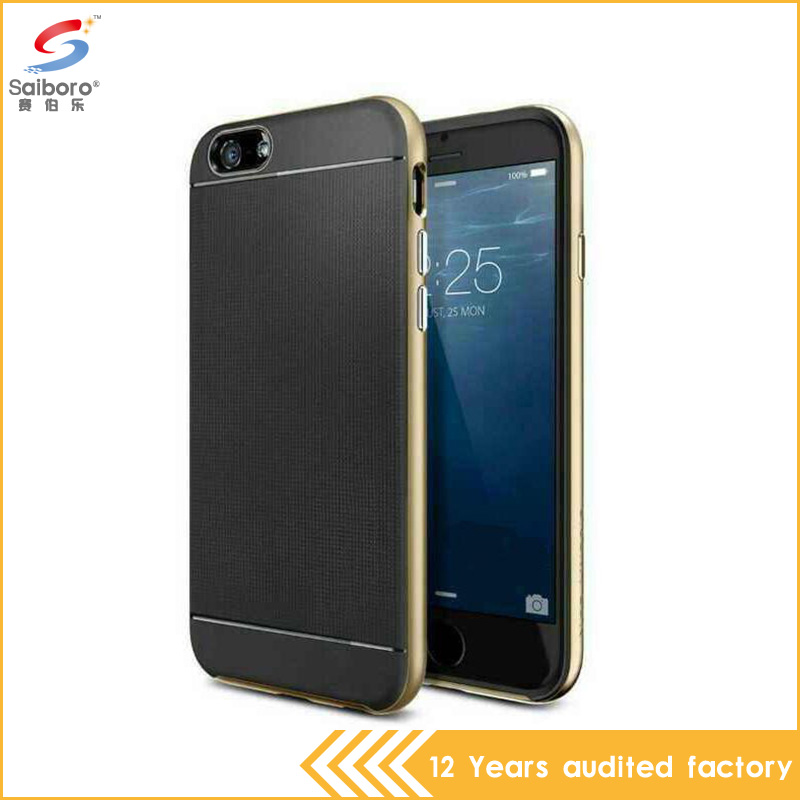 High Quality TPU PC Dual Layer Anti-shock Cell Cover For Iphone 6