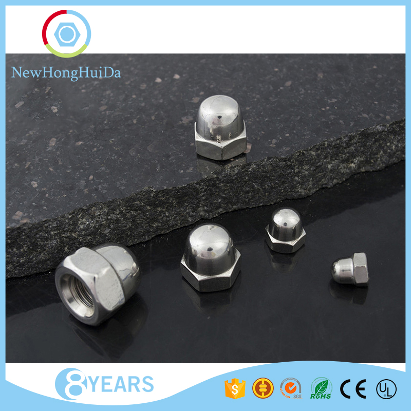 Factory price <strong>M10</strong> sizes stainless steel round head hexagon cap nut