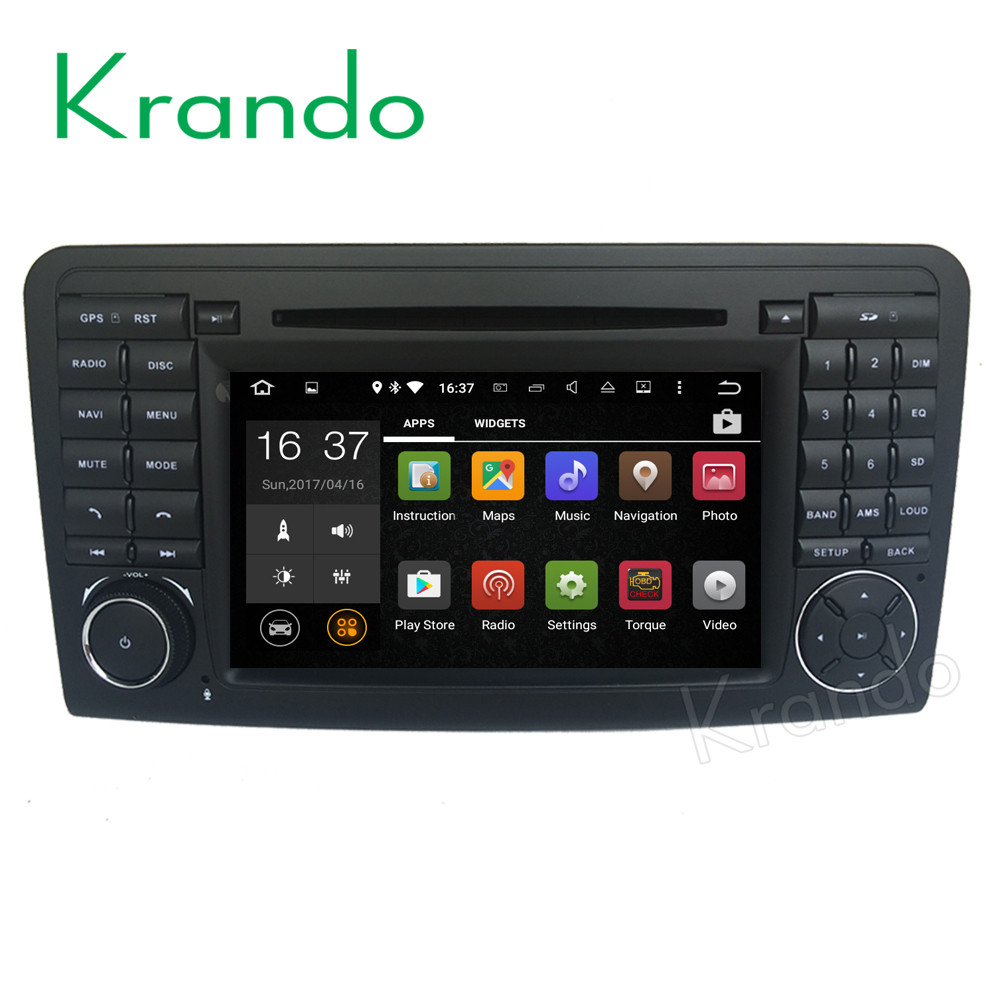 Krando <strong>Android</strong> 7.1 7'' car dvd radio audio for mercedes for benz ml <strong>w164</strong> 2005-2012 car gps multimedia player wifi 3G BT KD-MB164