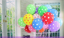 Polka Dot Balloons wedding marry marriage room decoration 12 inch round balloons classic toys