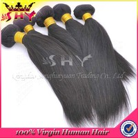 SHY wholesale price grade 7A remy indian very cheap straight human hair weft