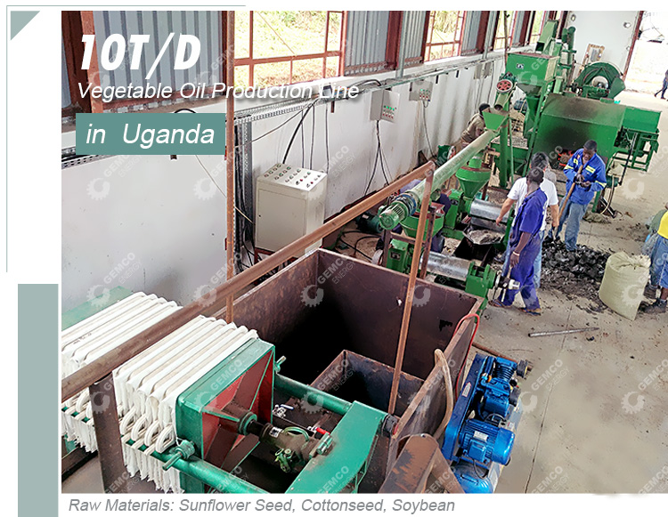 20 ton per day sunflower sesame cooking vegetable oil production line