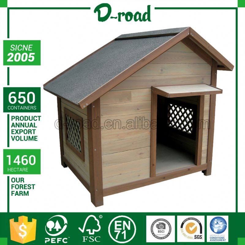 Solid Wood Portable Outdoor Camping Dog House Pet Sun Shelter
