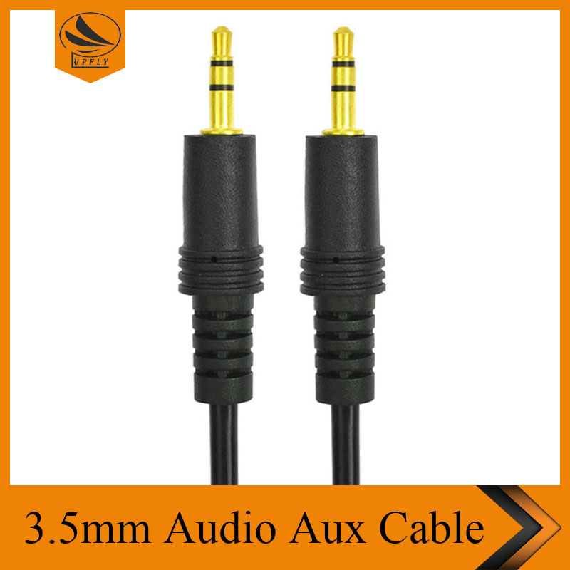 3.5mm Male to Male 1.5m/3m/5m/10m/15m/20m Stereo Audio Jack AUX Auxiliary Cable For iPhone for iPod MP3 Black Wholesale