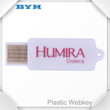 New Custom rectangle shape usb webkey for advertising
