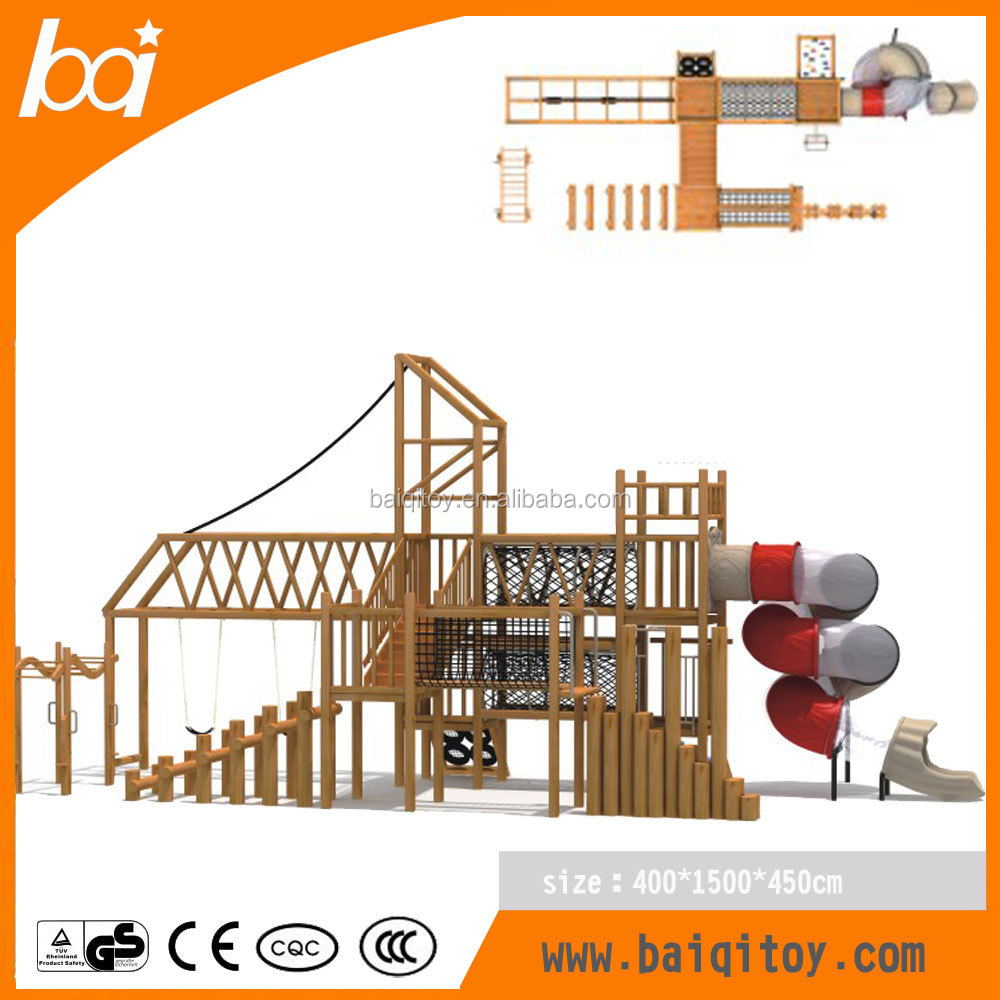 2016 outdoor playground bridge wooden playsets