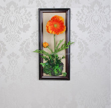 2015 Wall hanging flower Poppy arrangement for home decoration